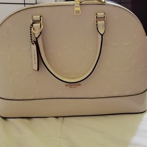 Coach white patent leather  Used